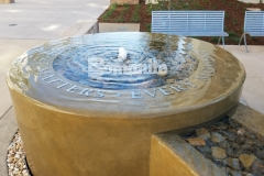 Bomanite Integral Color was the product of choice to create a decorative concrete fountain at the Clovis Community Medical Center because this coloration system will remain uniform throughout the depth of the concrete while providing durability and longevity of color.