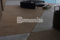 Bomanite Alloy architectural exposed concrete was installed here to create decorative pool decking at the Tulsa Hard Rock Hotel & Casino, and because of the durability it provides, it will stand up to the foot traffic that comes with club goers, wedding parties, corporate events, and concerts.
