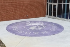I love the beautifully distinctive design that was created here using Bomanite Alloy because the exposed aggregates help to create a durable paving surface while adding a unique, custom finish.
