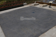 Natural Gray Bomanite Alloy was installed here and then engraved to create an outdoor hardscape surface that is distinctively attractive and showcases the beauty of quality decorative concrete.