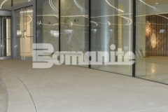 Expert precision and technical skill in the installation of this Bomanite Sandscape Refined decorative concrete is unmistakable and resulted in our colleague, Colorado Hardscapes, earning the 2018 Silver Award for Best Bomanite Exposed Aggregate System for their fastidious efforts at the 50 Fifty DTC office tower.