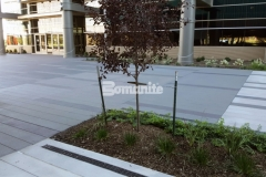 Bomanite Sandscape Texture decorative concrete was installed here to create a durable hardscape surface and this distinctive product truly showcases the beauty of quality architectural concrete.