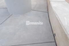 This decorative concrete courtyard area features Bomanite Sandscape Refined Antico decorative concrete that was installed here to create a durable hardscape surface and complement the contemporary design aesthetic at CrossCity Christian Church.