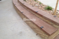 The hardscape surfaces throughout Centennial Center Park feature beautiful Bomanite Slate Texture stamped concrete, which was chosen to provide durability while adding unique design detail that make this the perfect space for learning and play.