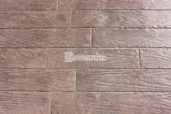 To create a wood plank look with the simulation of wood grain texture, the Bomanite Bomacron Random Boardwalk pattern was utilized and provides a distinct and durable stamped concrete hardscape surface that adds a beautiful architectural touch to the exterior spaces throughout the Tanger Outlets Fort Worth.