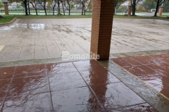 The new stamped concrete driveway and walkways at the Residence Condominiums in Clayton, MO were skillfully installed by our associate Musselman & Hall Contractors and their detailed craftsmanship and quality execution earned them the Gold Award for Best Bomanite Imprint Systems Project.