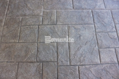 The Bomacron Medium Ashlar Slate pattern has an English slate texture that enhances the design aesthetic at the Tanger Outlets Fort Worth and this Bomanite imprinted concrete will result in long lasting paving and flooring with minimal maintenance requirements.