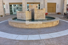 The store fronts and Texas-style artwork throughout the Tanger Outlets Fort Worth was beautifully complemented by the Bomanite stamped, stained, and colored concrete walkways that were installed by our colleague Texas Bomanite and earned them the Best Bomanite Imprint Systems Project Bronze Award for their expert and skillful installation.