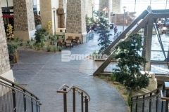 Our associate, Colorado Hardscapes, utilized the Bomanite Imprint Systems at the Gaylord Rockies Resort & Convention Center, including the Bomacron Small Random Slate imprint pattern featured here that was accurately placed to create intentional repetition and consistency with a natural looking result.