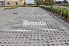 Our associate, Texas Bomanite, installed Bomanite Grasscrete pervious concrete to create a paving surface that decreases the overall impervious percentage on the site and allows for proper stormwater drainage.