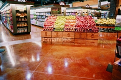 Bomanite Toppings Systems using Patene Artectura at Kowalskis Market.