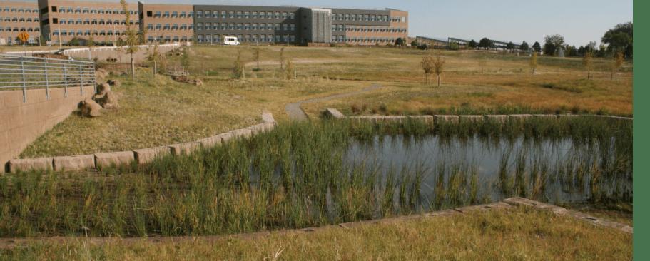 Bomanite Pervious Concrete Systems, NREL Central Arroyo Detention Pond - Grasscrete, NREL Environmental Labs by Colorado Hardscapes